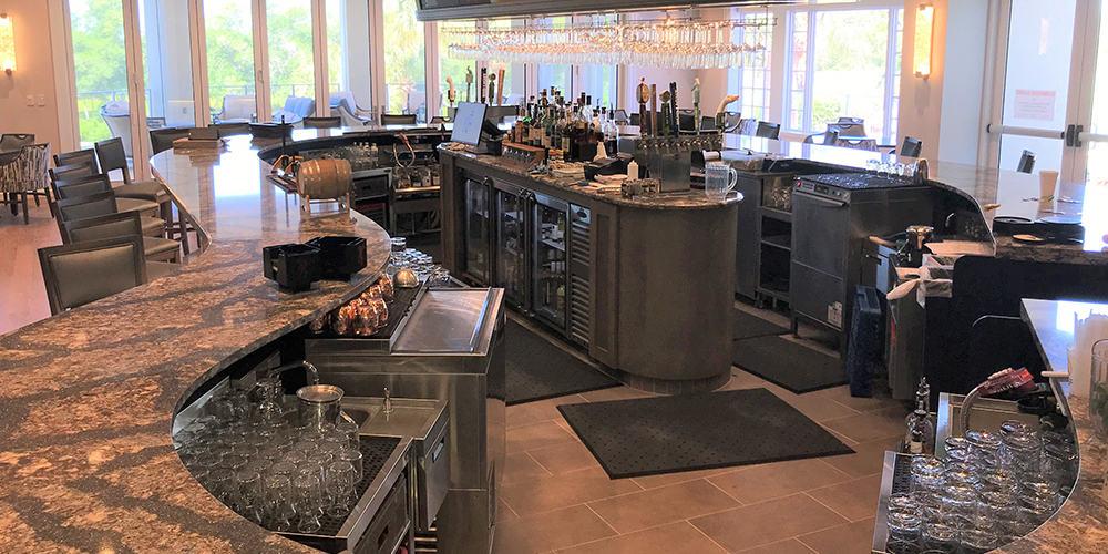 Pelican's Nest Golf Club Bar Design and Build